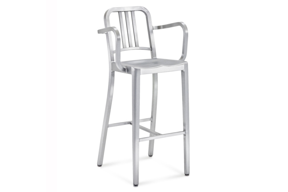 Navy 174 Bar Stool With Armrests By Emeco Stylepark