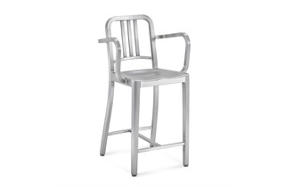 Navy® Counter stool with arms  by  Emeco