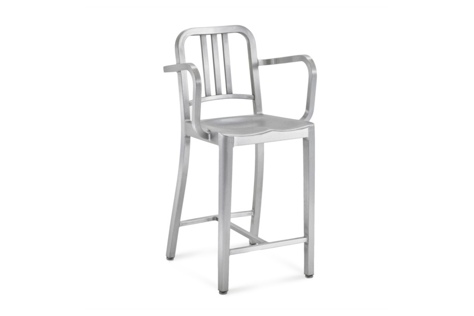 Navy® Counter stool with arms