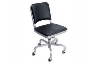 Navy® Swivel chair upholstered  by  Emeco