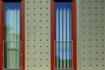 Swisspearl perforated panel  by  Eternit Switzerland