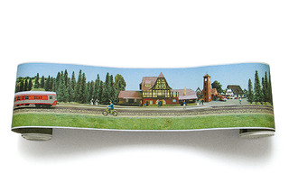 Eisenbahn Border  by  Extratapete