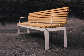 Extempore bench with backrest  by  Extremis