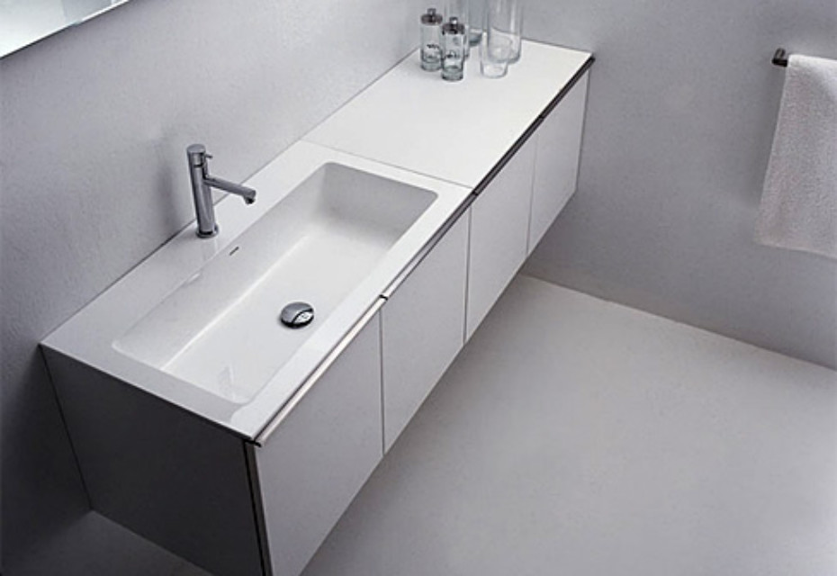 Gap wash basin for taps