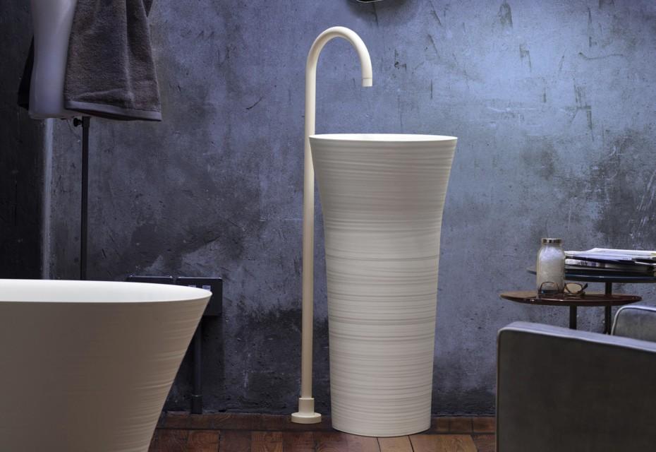 Handmade free-standing washbasin