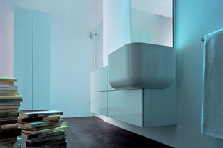 Light module with basin angled  by  Falper