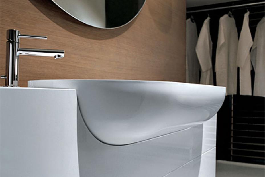Light Waschtischmodul mittig