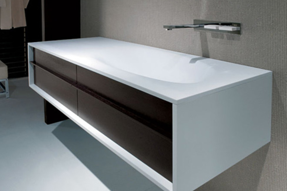 Shape module with basin