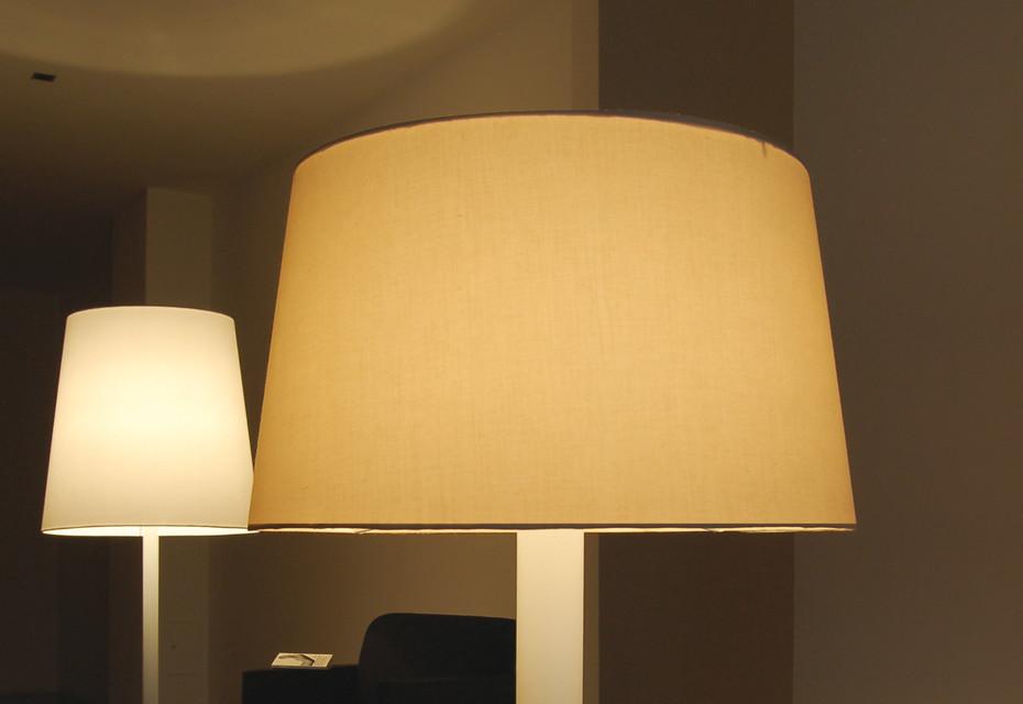 Cotton Table lamp medium