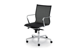 Elle Executive swivel chair with arm rest  by  Fantoni