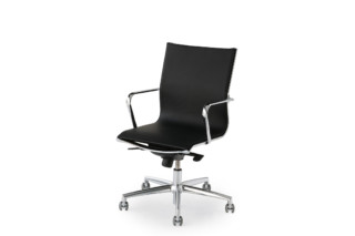 Elle Executive swivel chair leather  by  Fantoni