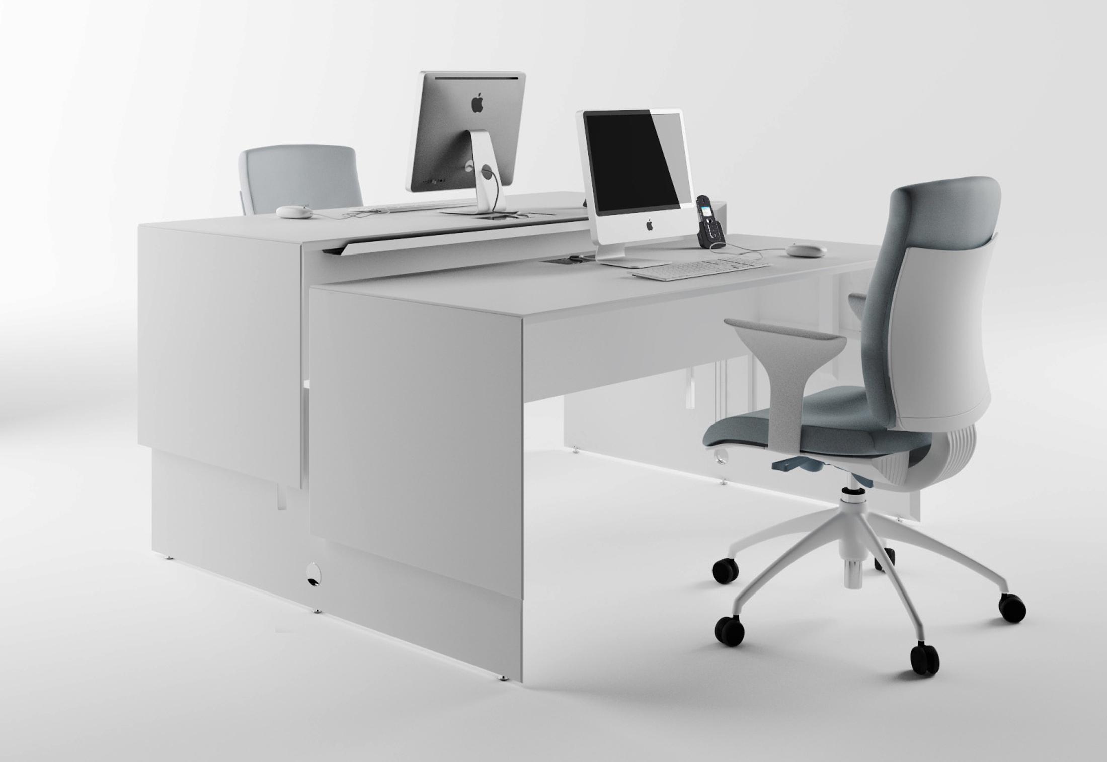 quaranta5 schreibtisch von fantoni stylepark. Black Bedroom Furniture Sets. Home Design Ideas