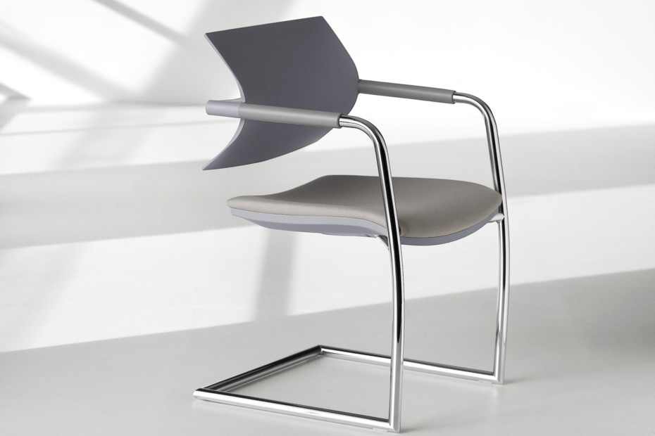 Vanilla cantilever chair