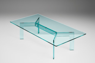Cross rectangular coffee table  by  FIAM Italia