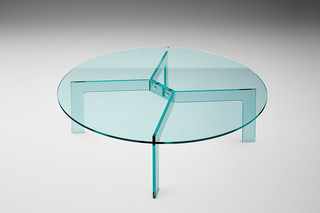 Cross round coffee table  by  FIAM Italia