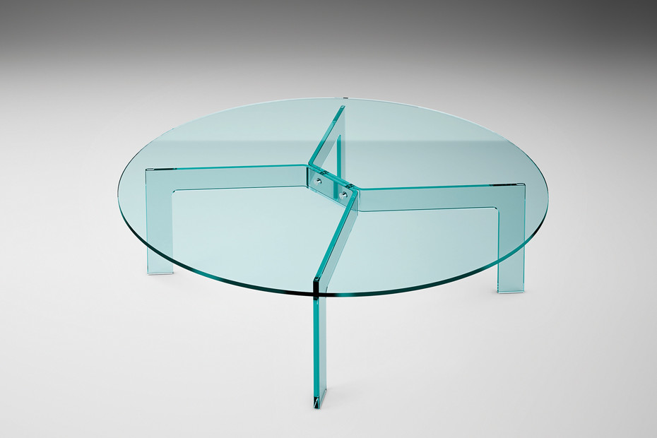 Cross round coffee table