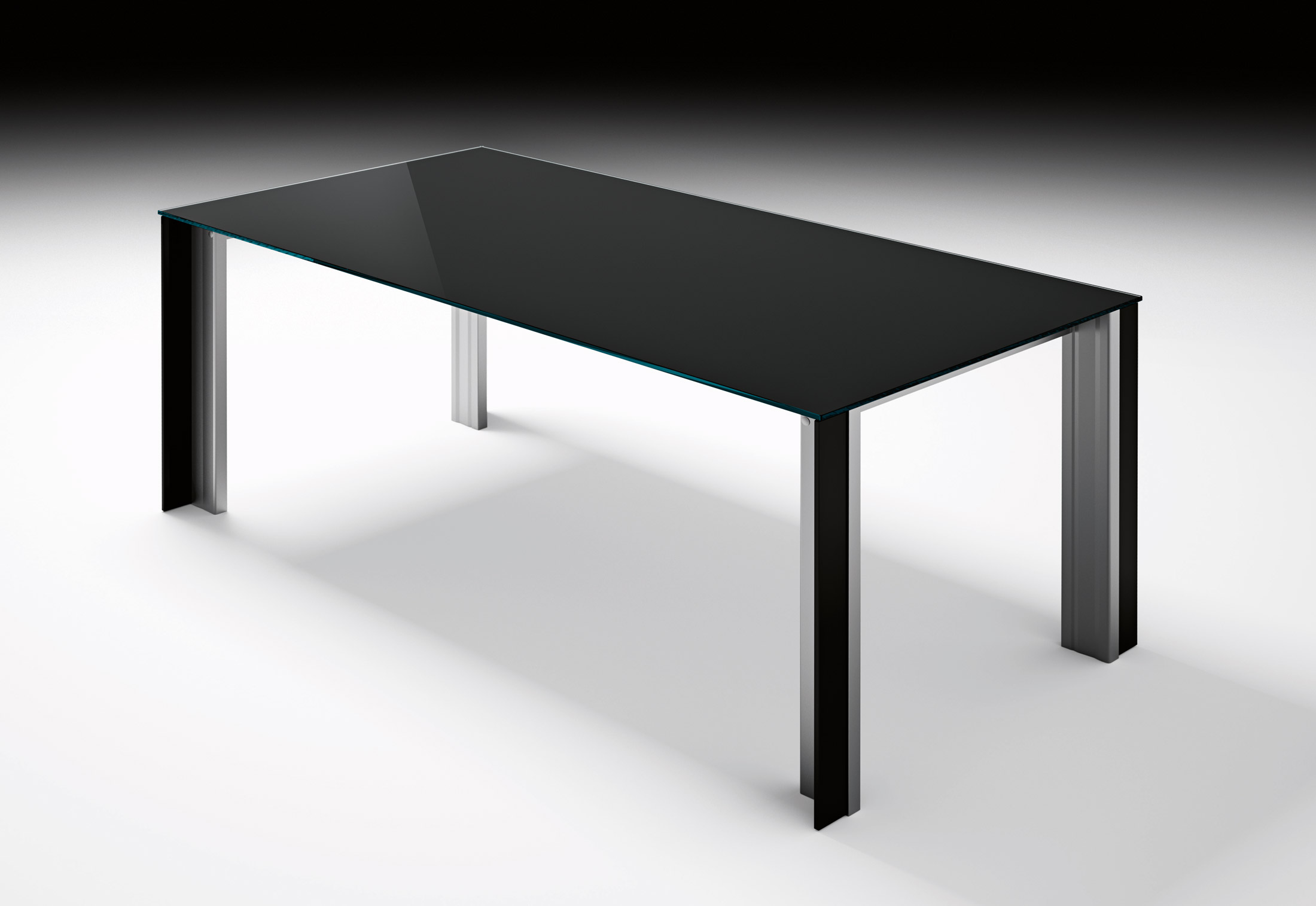 Tale by fiam italia stylepark for Table extensible titanium