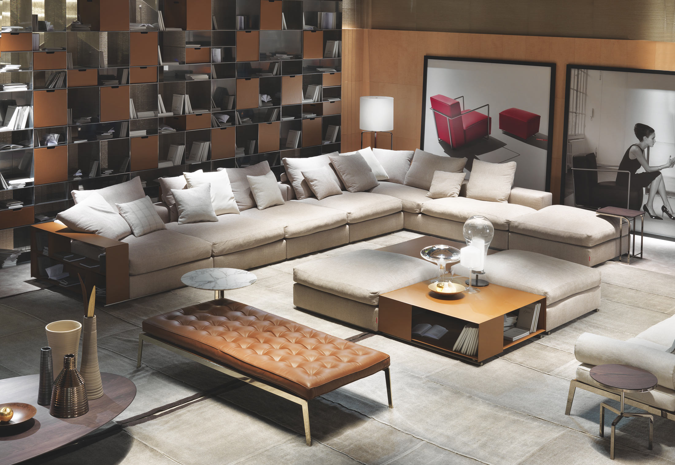 groundpiece sectional sofa by flexform stylepark. Black Bedroom Furniture Sets. Home Design Ideas