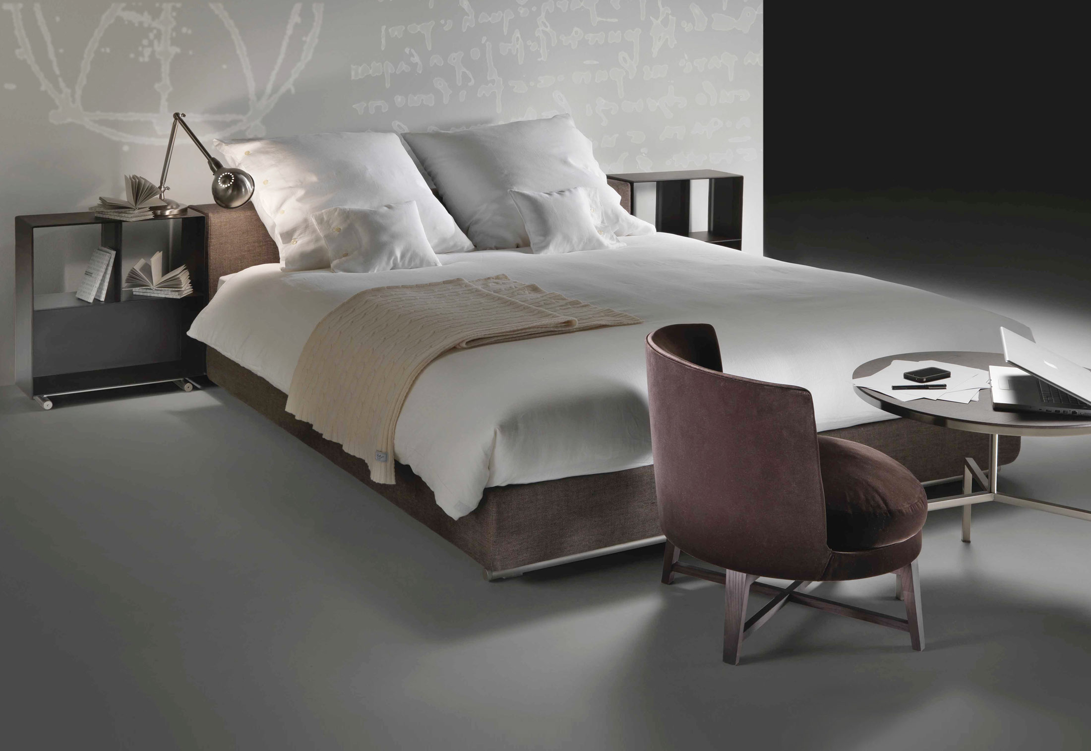 Groundpiece Slim Bed By Flexform Stylepark