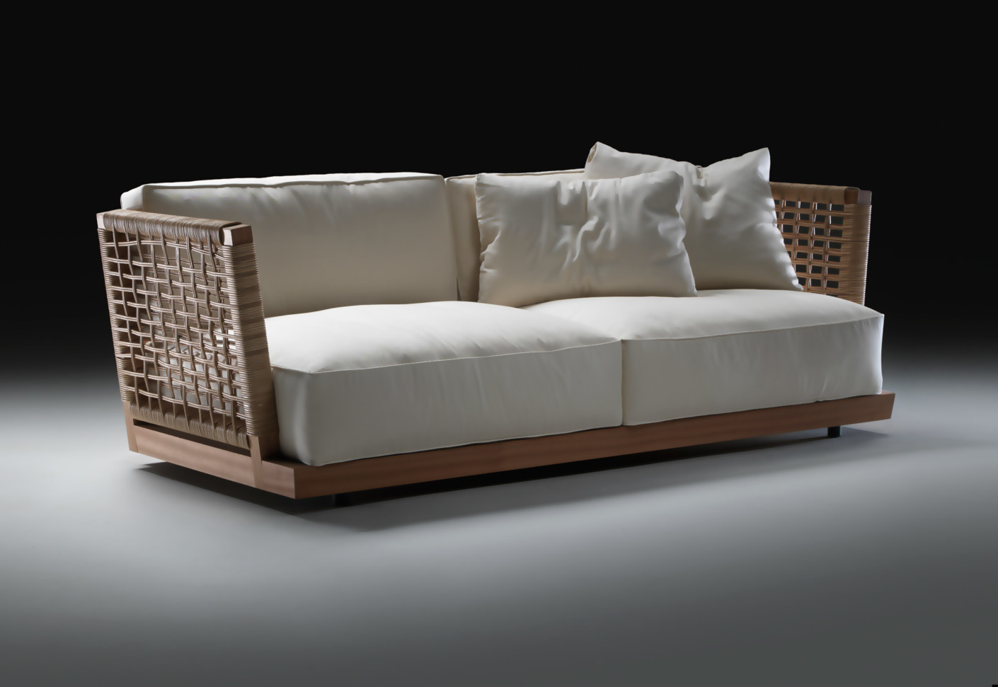 Flexform Sofa Lightpiece With Chaise Longue By
