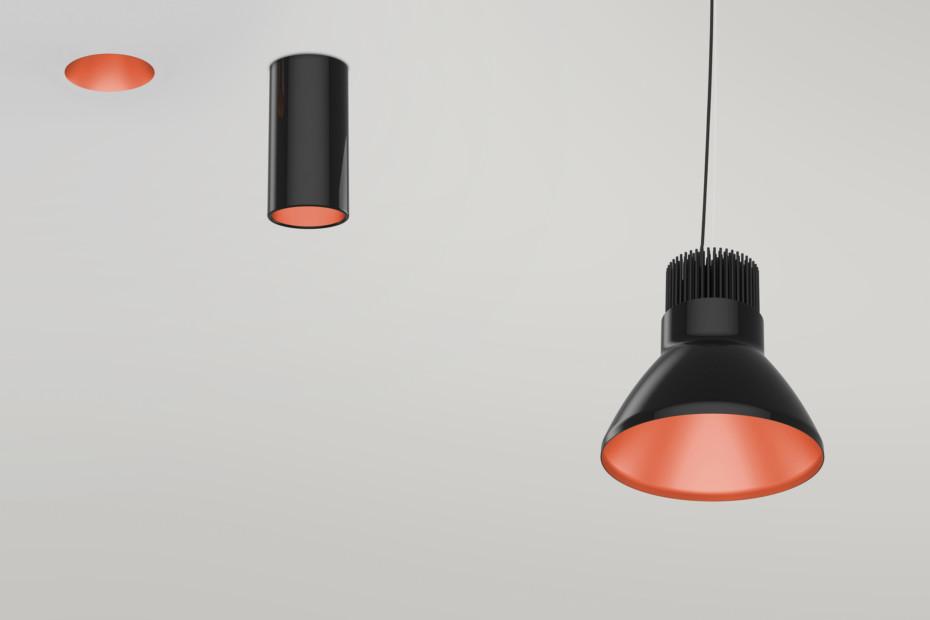 Copper Finish suspension lamp