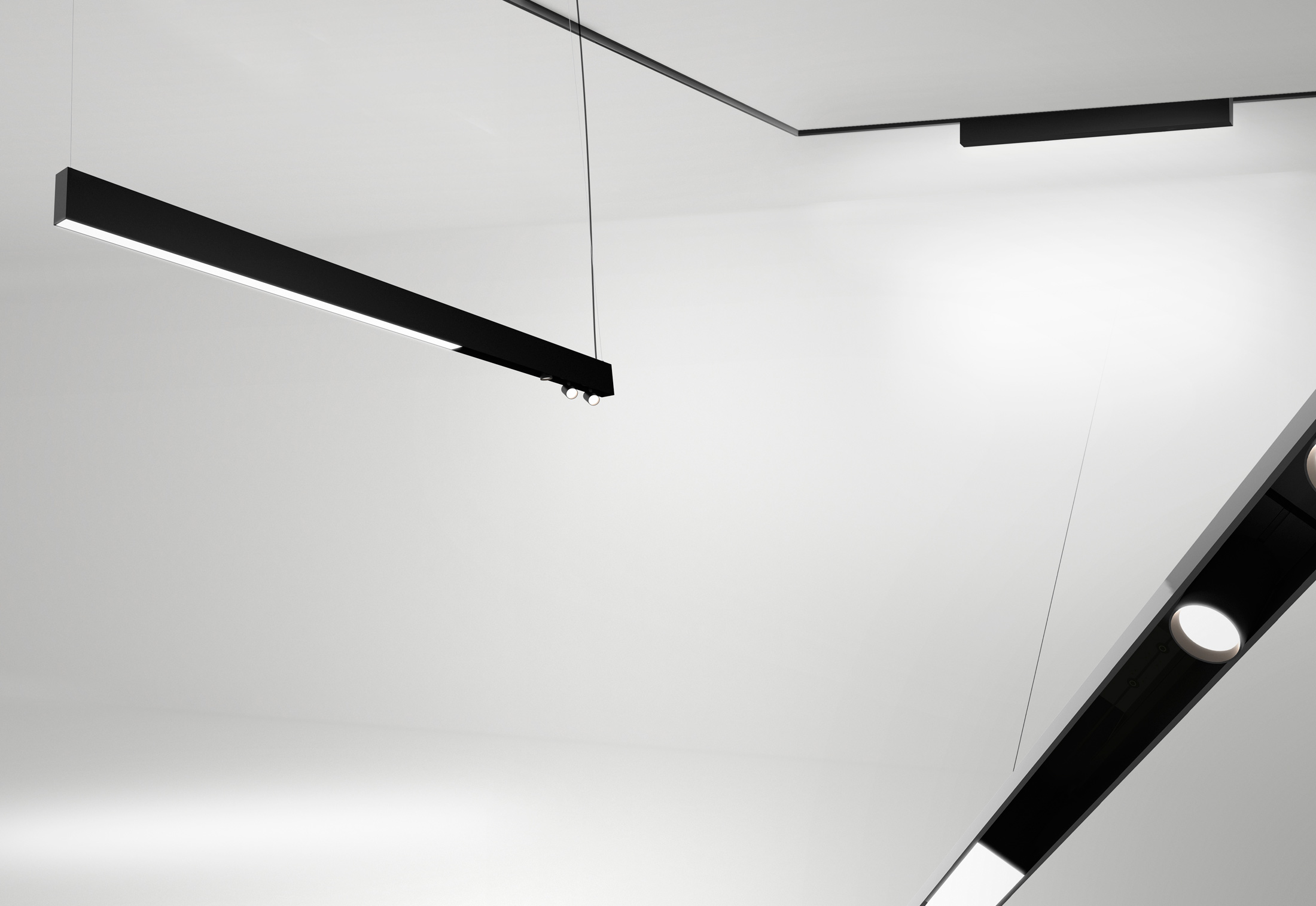 The Running Magnet Ceiling Light By Flos Architectural