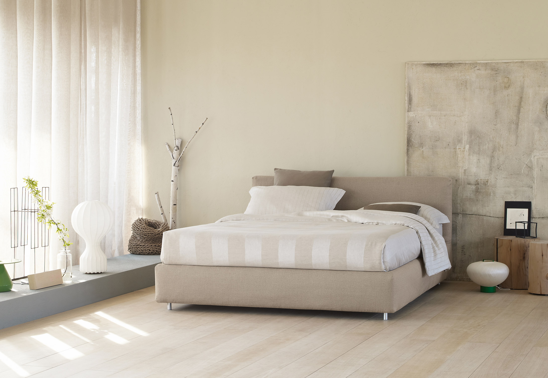 merkurio doppelbett von flou stylepark. Black Bedroom Furniture Sets. Home Design Ideas