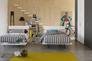 Tadao Einzelbett  von  FLOU