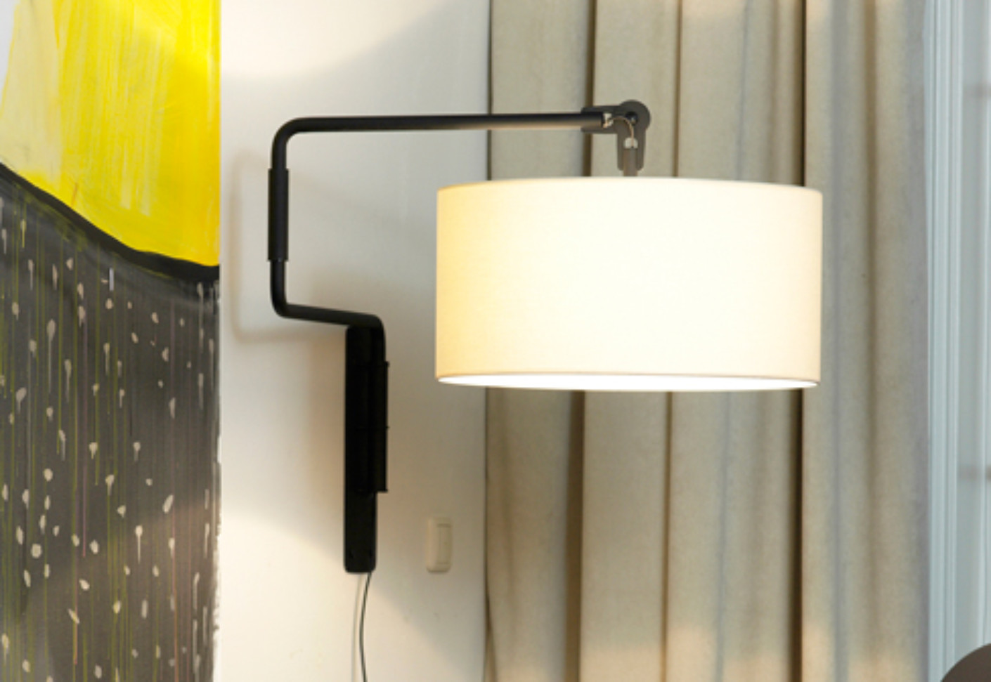 White Swivel Light Wall Von Functionals Stylepark