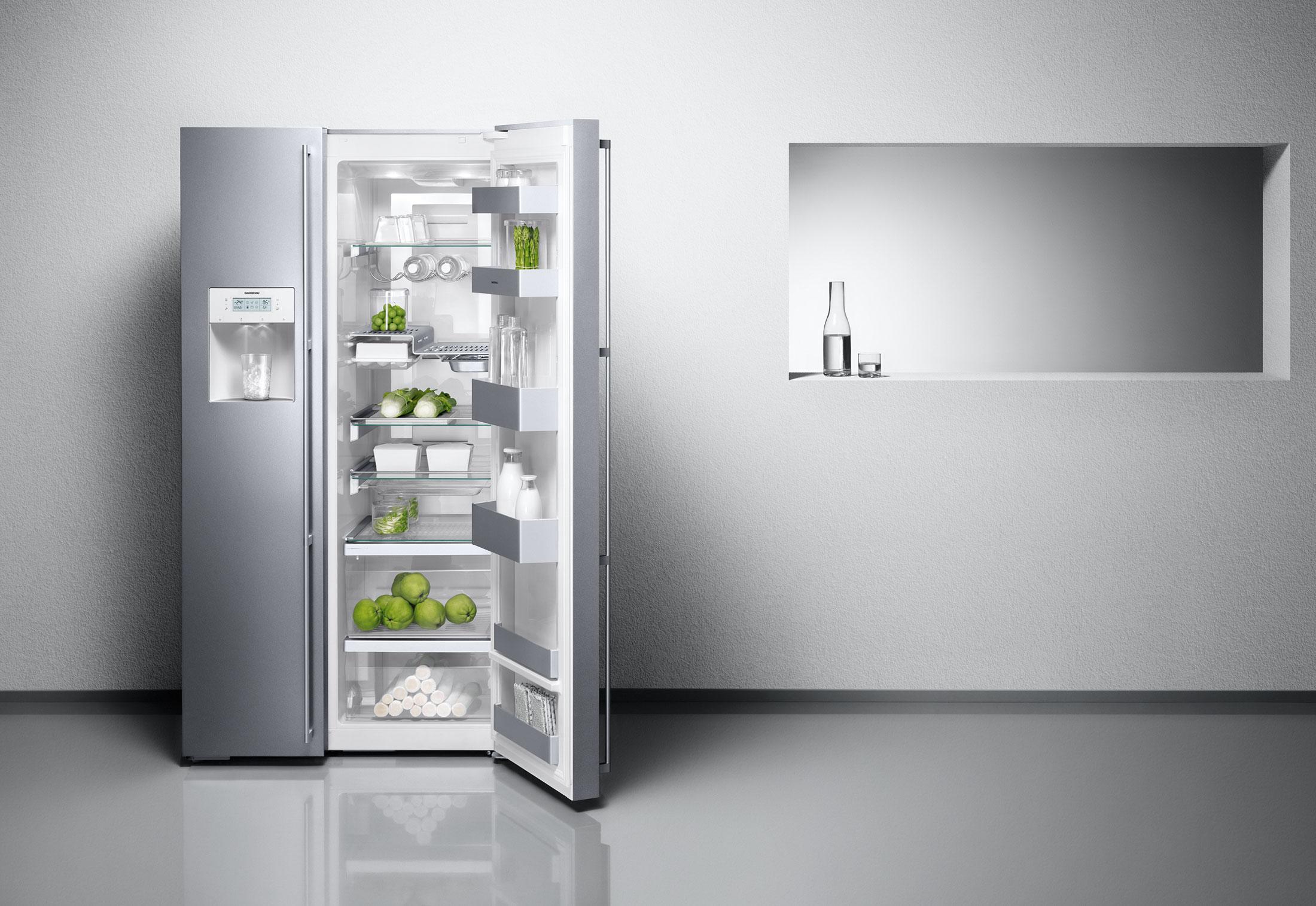 Side By Side Kühlschrank Mit Fenster : Lg gsi pzaz amerikanischer side by side mit wasserspender