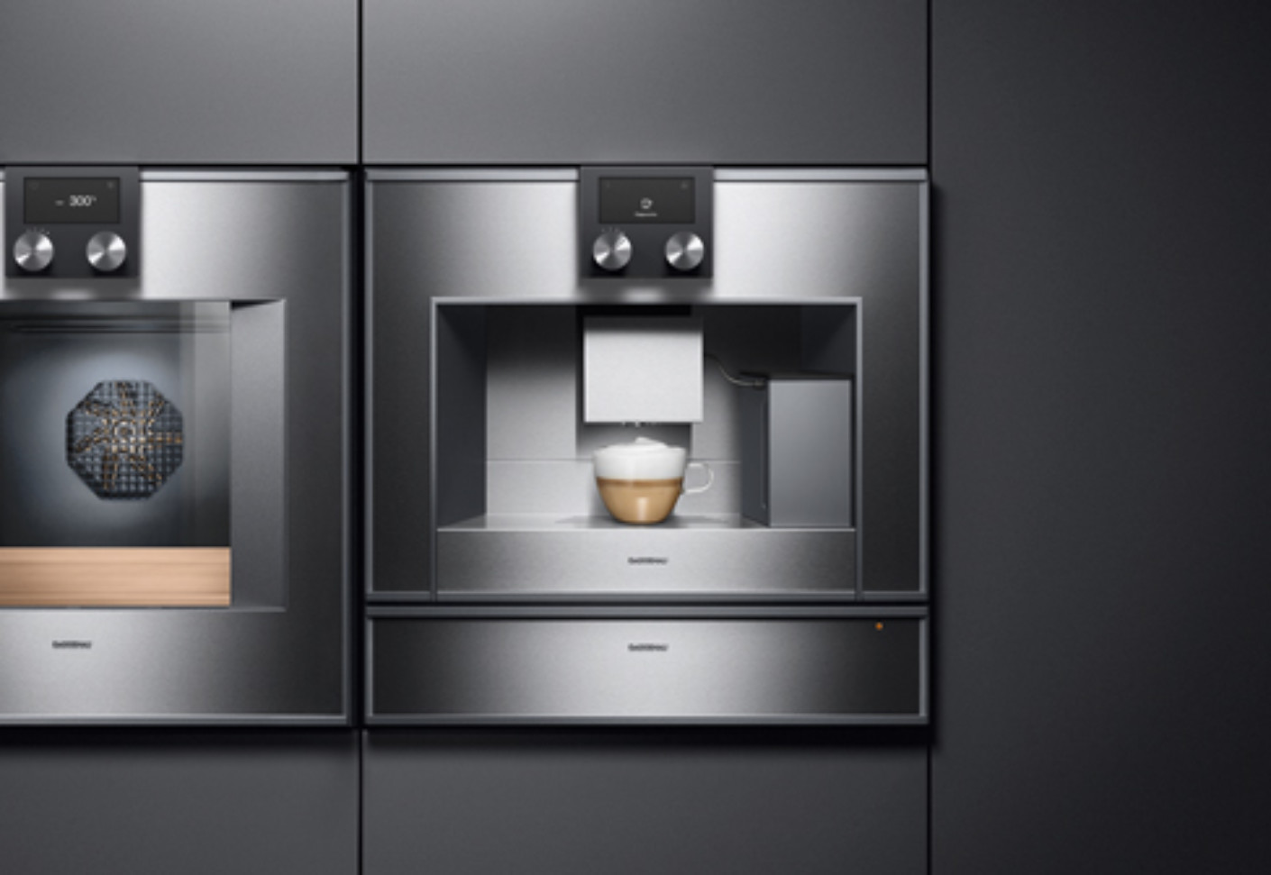 series 400 espresso machine by gaggenau stylepark. Black Bedroom Furniture Sets. Home Design Ideas