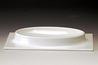 Morphescape oval plate  by  GAIA&GINO