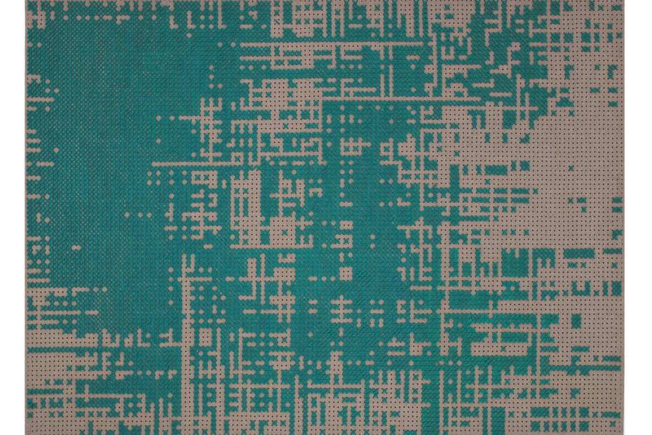 Canevas Green Abstract