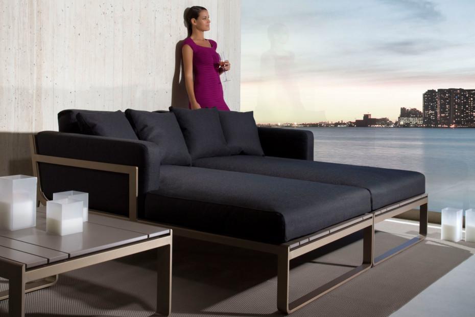 Flat Sofá Modular 4 bronce