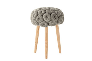 Knitted stools grey  by  Gandia Blasco