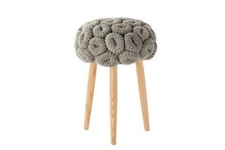 Knitted stools grau  von  Gandia Blasco