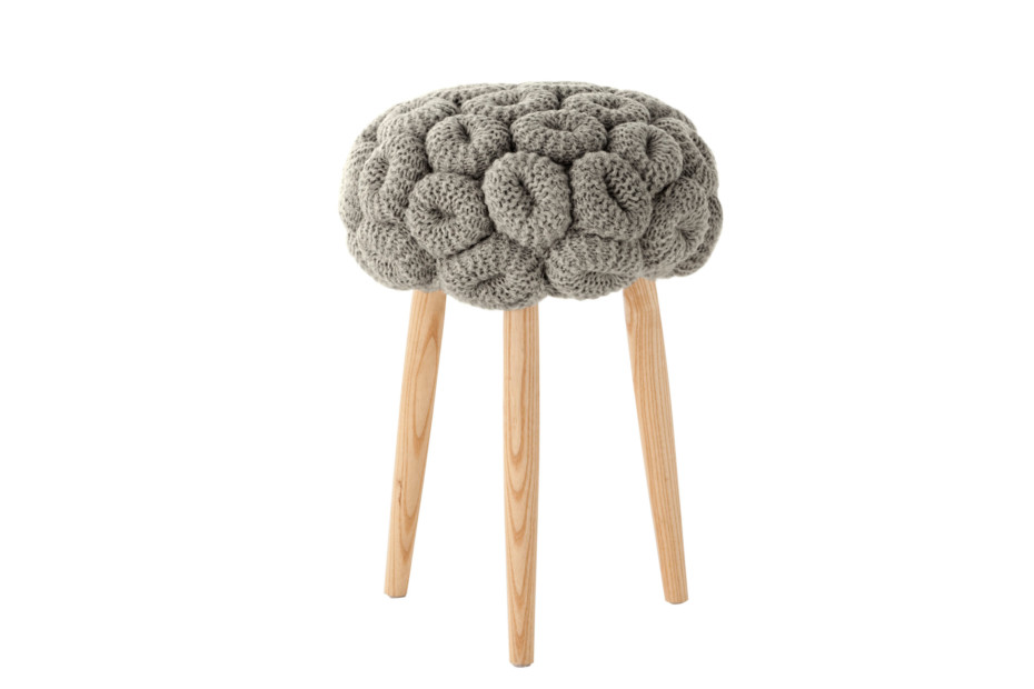 Knitted stools grey