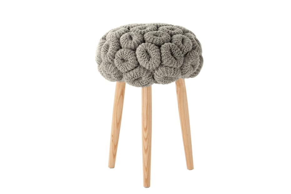 Knitted stools grau