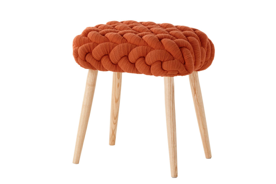 Knitted stools orange
