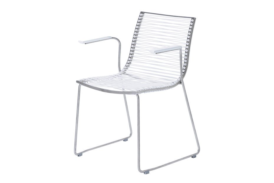 Pan chair with armrests