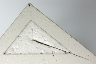 Dry construction │ panel of plaster fiber with Styrofoam  by  Georg Ackermann