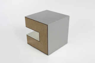 Fold technic │ MDF coated with Aluminium laminate  by  Georg Ackermann