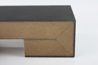 Fold technic │ MDF coated with laminate │black matt  by  Georg Ackermann