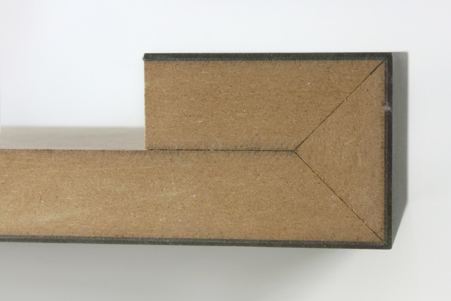 Falttechnik │ Schichtstoff auf MDF │ schwarz matt