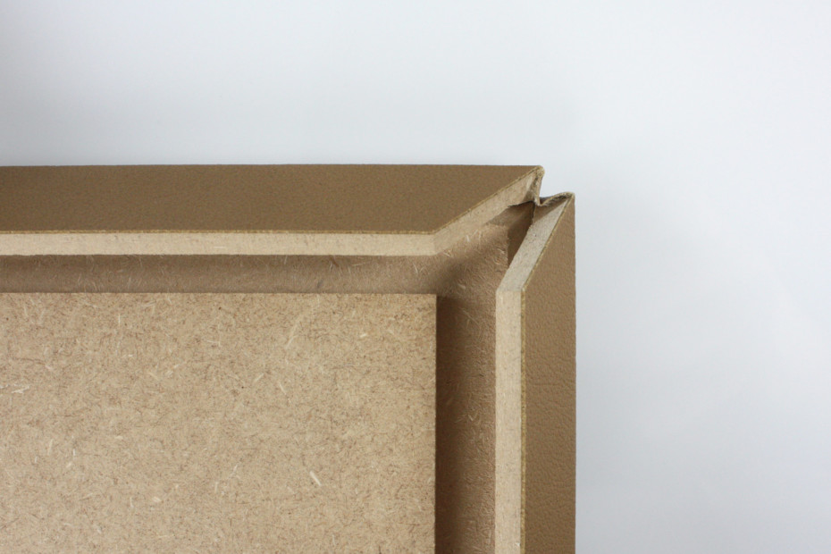 Fold technic │ MDF coated with synthetic leather │ beige