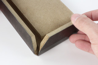 Fold technic │ MDF coated with synthetic leather │ black  by  Georg Ackermann