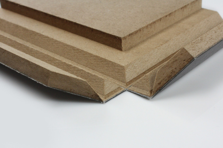 Fold technic │ MDF coated with synthetic leather │ black