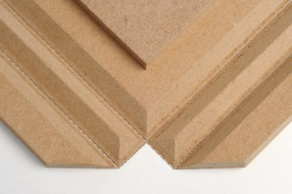 Fold technic │ MDF coated with synthetic leather │ brown  by  Georg Ackermann