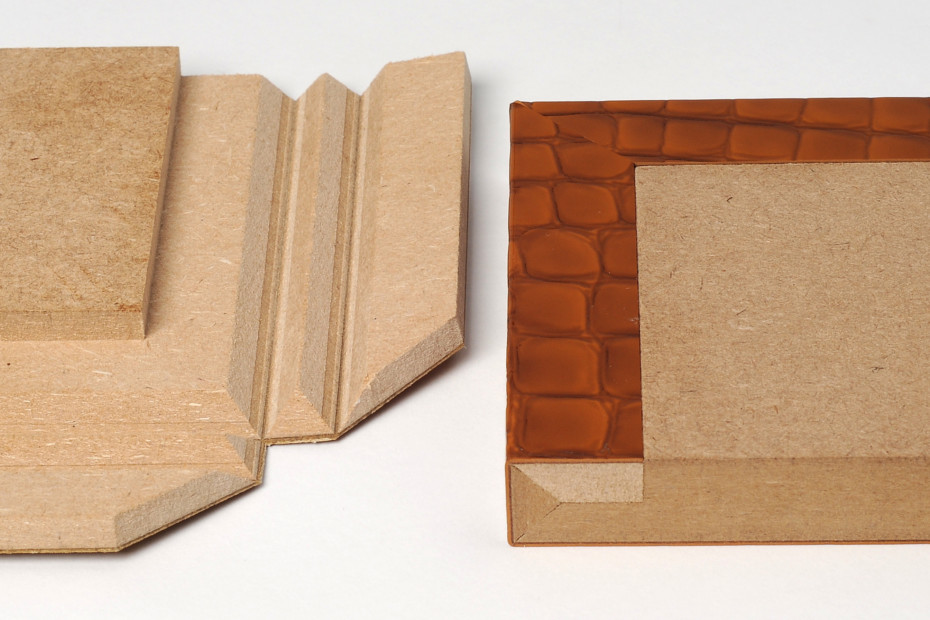 Fold technic │ MDF coated with synthetic leather │ brown