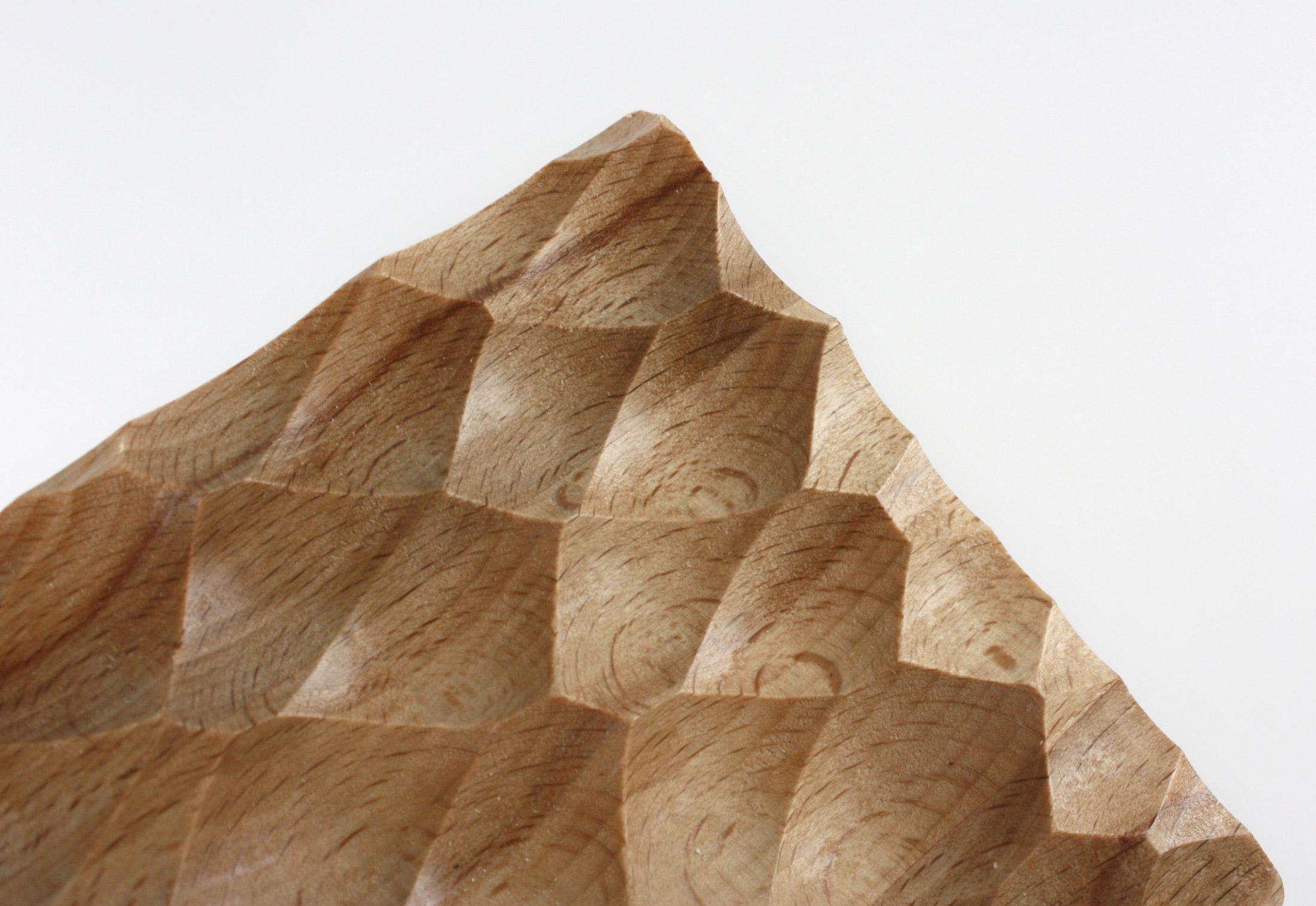 Wave Panel Beech Wood Adria By Georg Ackermann